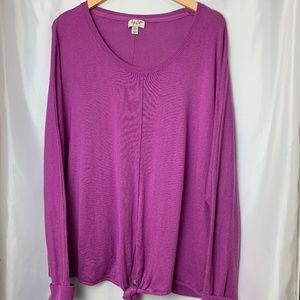 Style & Co Tie Front Sweater, Size XXL
